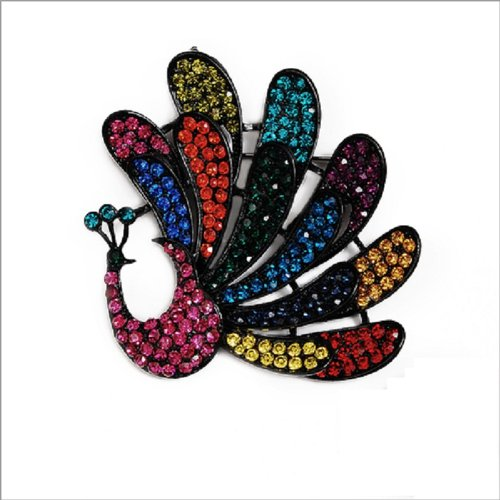 Fashion Trendy Peacock Brooch #023475