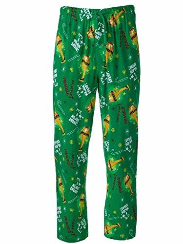 A Christmas Story Mens Green Sleep Pants Leg Lamp Pajama Bottoms