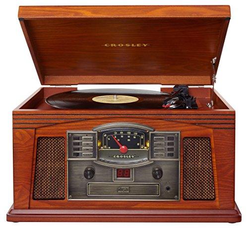 Crosley-Lancaster-Entertainment-Center-mit-Integriertem-Lautsprecher-im-Nostalgischen-Holzkabinett-mit-CD-Spieler-AMFM-Radio-und-Schallplattenspieler-mit-3-Geschwindigkeiten-Paprika