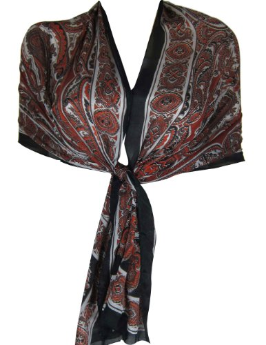Scarves Women Silk Printed Rectangular Indian Clothes From India 55 x 182 cm