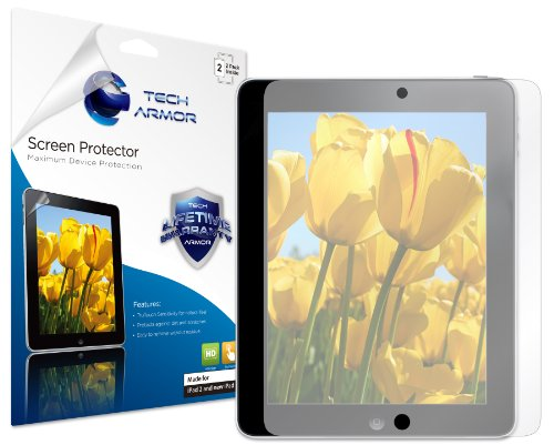 Tech Armor Apple New iPad 4, 3 & 2 Anti-Glare & Anti-Fingerprint (Matte Finish) Screen Protector with Lifetime Replacement Warranty [2-PACK] - Retail Packaging
