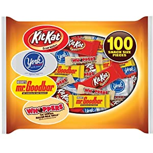 Hershey's Chocolate Snack Size Assortment, 100-Piece Bag