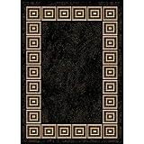 Home Dynamix 5-11021-450 Optimum Polypropylene Area Rug, 21 by 35-Inch, Black