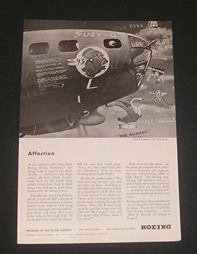 1943 WWII Ad Boeing B-17 Flying Fortress titled
