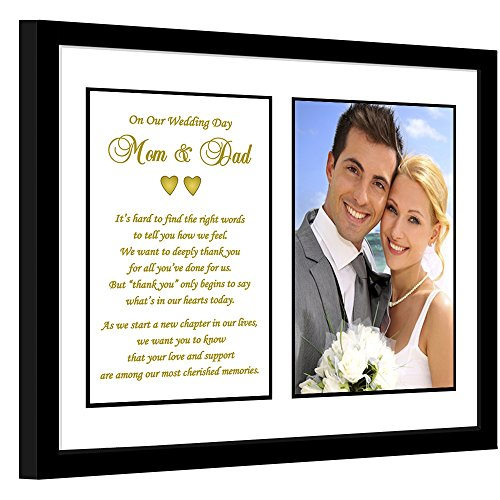 Parent Thank You Wedding Gift - Thank You Poem From Both the Bride and Groom in 8x10 Inch Frame - Add Photo
