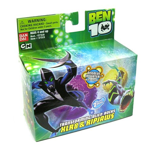 Picture of Bandai Ben 10 (Ten) Transforming Alien Rocks 1 Inch Mini Figure Set XLR8 & Ripjaws (B000J6CD6E) (Ben 10 Action Figures)