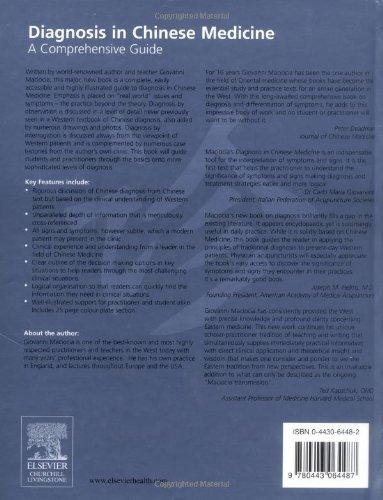 Diagnosis in Chinese Medicine: A Comprehensive Guide, 1e