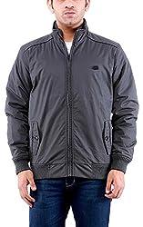 Time Option Men's Cotton Jacket (5014_Graphite_40)