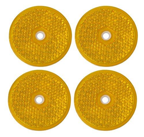 AERZETIX-4-catadioptres-rflechissant-rflecteur-autoadhsif-rond-orange-61mm-pour-auto-moto-vlo-camion-utilitaire-semi-remorque