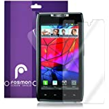 Fosmon Crystal Clear Screen Protector Shield for Motorola Droid Razr (XT910) / Droid Razr MAXX (XT912) - 3 Pack