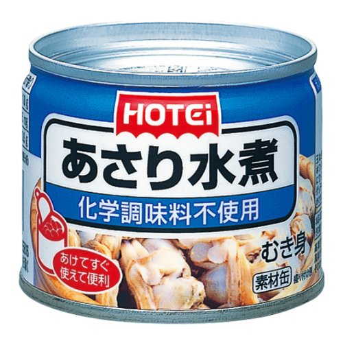 ホテイ あさり水煮化学調味料不使用 125g×12個