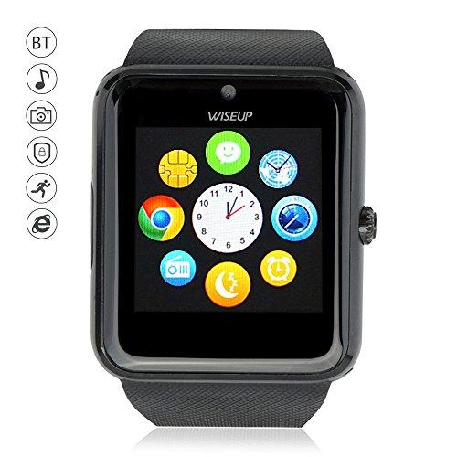 Wiseup GT08 Bluetooth Smartwatches Téléphones Portables avec Carte SIM GSM GPRS pour Android Samsung HTC (noir)