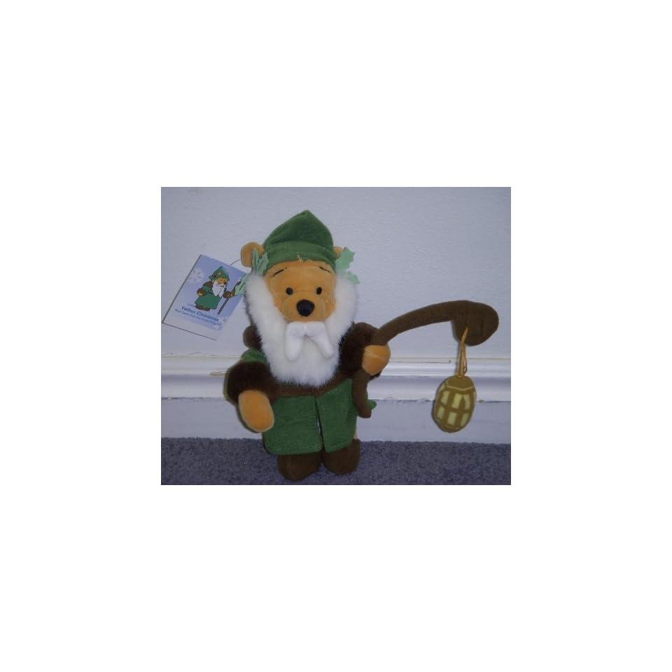 Disney Winnie the Pooh United Kingdom 8 Plush Bean Bag Father Christmas Doll
