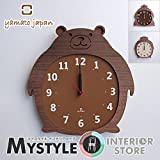 ヤマト工芸 Clock Zoo 掛け時計 ゴリラ YK14-003-ゴリラ