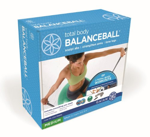 Balance Ball Dvd: Balance Ball Kit DVD Resistance Band Pump Workout Exercise New