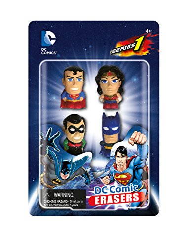 DC Comics Eraser Pack Set A (4-Piece) - 1