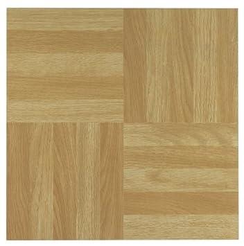 Floor Vinyl Tile Nexus Wood Classic Light Oak Diamond Parquet 12 Inches 20 Packs