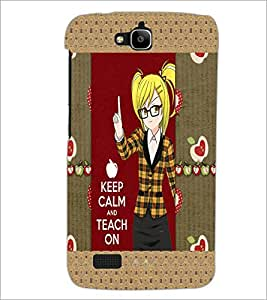 PrintDhaba Quote D-5660 Back Case Cover for HUAWEI HONOR HOLLY (Multi-Coloured)