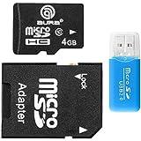 microSDHCカード 4GB Class10 アダプター カードケース付き