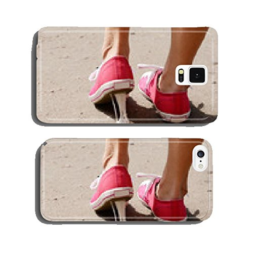 Foot stuck into chewing gum on street cell phone cover case Samsung S5