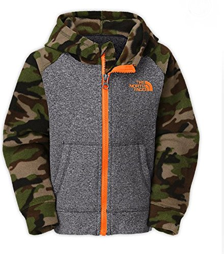 The North Face Toddler Boy'S Glacier Full Zip Hoodie- Scallion Green Camo Print (6) front-658772