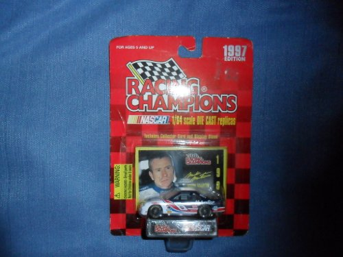 Mark Martin 1997 Racing Champions #6 Valvoline Ford Thunderbird 1/64 Diecast . . . Includes Collector Card and Display Stand