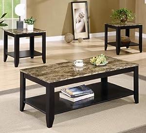 Groovy O Deals Coaster 3Pc Coffee Table End Table Set Faux Machost Co Dining Chair Design Ideas Machostcouk
