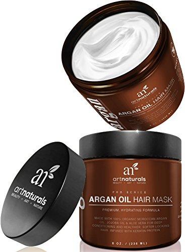 Art-Naturals-Argan-Oil-Hair-MaskDeep-Conditioner-8-Oz100-Organic-Jojoba-Oil-Aloe-Vera-KeratinRepair-Dry-Damaged-Or-Color-Treated-Hair-After-Shampoo-Best-For-All-Hair-Types-Sulfate-Free
