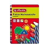 Herlitz Waterproof Wax Crayons 8 Pieces