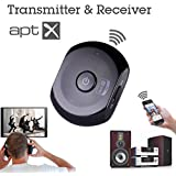 Avantree Saturn 2-in-1 Portable switchable Bluetooth transmitter and receiver adapter with APTX codec for Superb Sound Quality