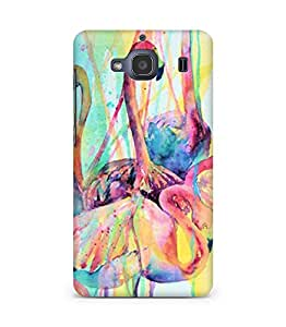 Amez designer printed 3d premium high quality back case cover for Xiaomi Redmi 2S (abstract art flamingo)