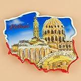 Poland Map Magnet - Lichen Stary, Basilica