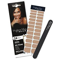 Myleene Klass Nails 24 WRAPS & NAIL FILE BROWN DESIGN