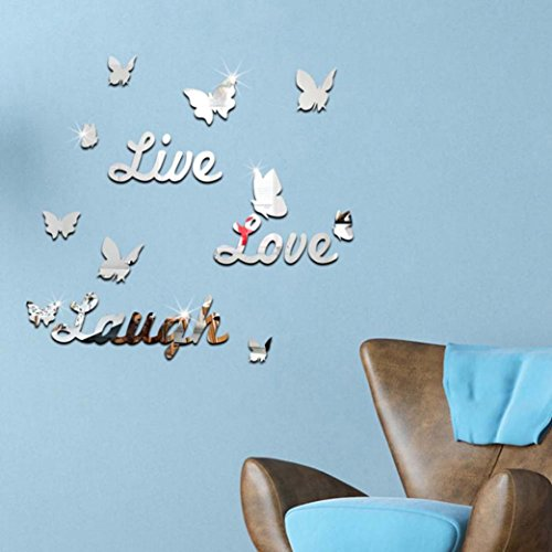 kingkor-removable-butterfly-words-silver-wall-decal-stickers-mirror-effect-decor-art