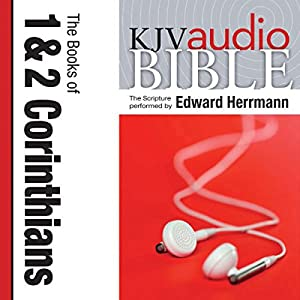 King James Version Audio Bible: The Books of 1 and 2 Corinthians Audiobook
