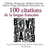 img - for 100 citations de la langue fran aise book / textbook / text book