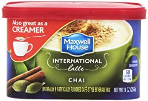 Maxwell House International Coffee Chai Latte, 9-Ounce Cans (Pack of 4)