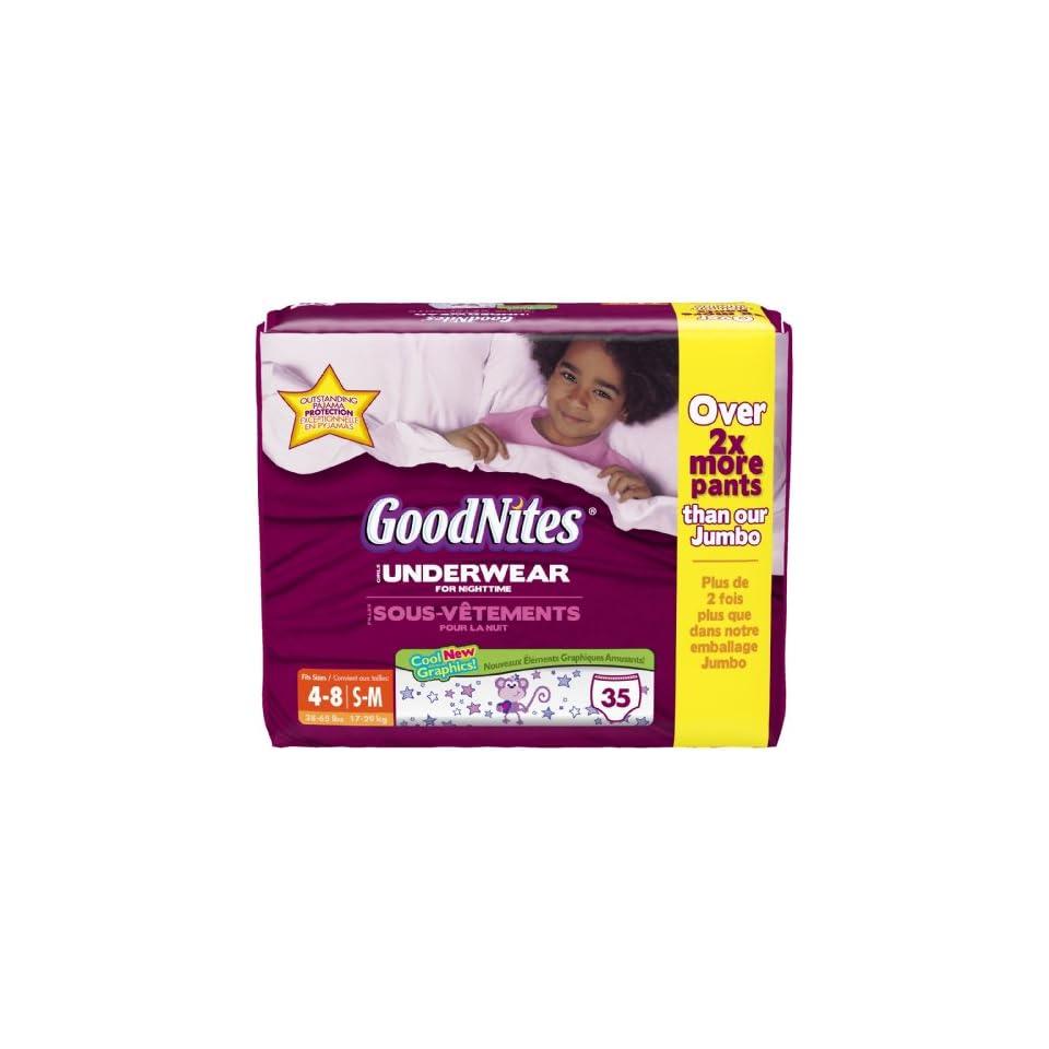 616b12c7e6691 Huggies Goodnites Underwear Bonus Big Pack S M Girl 35ct. on PopScreen