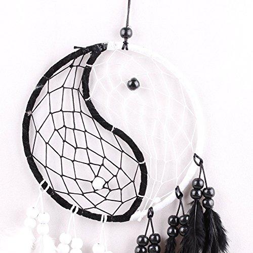 """PanDaDa Dream Catcher Handmade Traditional Yin Yang Approx 6"""" Diameter x 19.68"""" Long"""