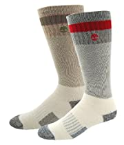 Timberland Mens Boot Sock With Stripe, Assorted, Shoe size 9-13