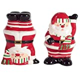 Boston Warehouse Candy Claus Salt And Pepper, Set Of 2