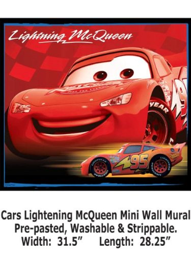 Wallpaper Steves Color Collection - All Cars Lightening McQueen Mini Wall Mural BC1580938