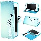 ivencase Painting Art Design Portefeuille PU Cuir Flip Shell Housse Coque Étui Case Cover Pour Apple iphone 5 5S
