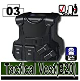 B20 Tacticle Vest (Black) - LEGO Compatable Piece