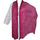Lahriya Printed Cotton Beaded Dupatta Clothing Accessory from India 102 x 209 cmsby DakshCraft