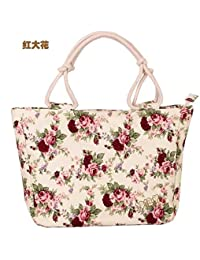 Cheap Canvas Women Handbags Floral Printing Women Causual Tote Bags Bolsas All-match Portable Vintage Shoulder...