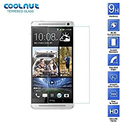 COOLNUT HTC One Max T6 Mobile Tempered Glass, Ultra Clear Screen Protector, 2.5d Rounded Edges