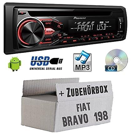 FIAT BRAVO 198-Pioneer DEH 1800ub-Autoradio CD/MP3/USB-Kit de montage
