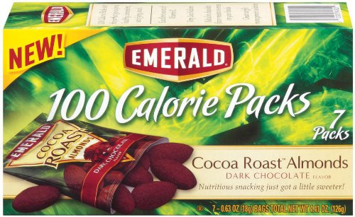 Emerald Cocoa Roast Almonds, Dark Chocolate, 100 Calorie Pack, 4.41 Ounce Packages (Pack of 12)