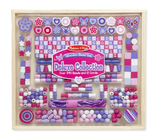 Melissa & Doug Deluxe Collection Wooden Bead Set back-369734
